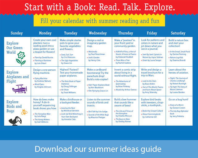 Parents: Download our summer ideas guide