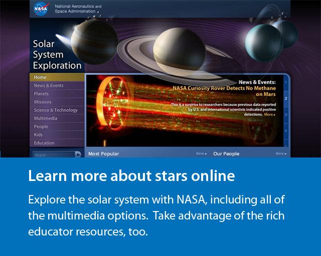 screenshot of NASA website.