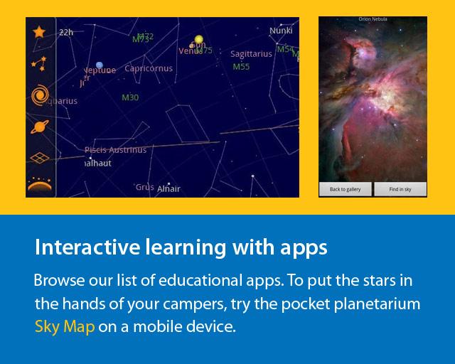 screenshot of stars apps.