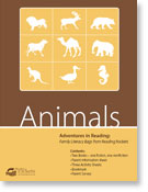 Animals family literacy bag