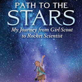 cover of Path to the Stars showing girl in girl scout uniform reaching up to the stars