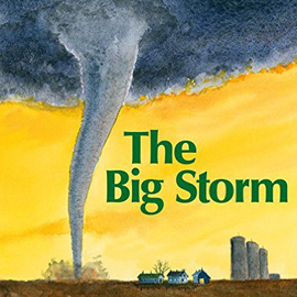 "cover of ""The Big Storm"" showing a funnel cloud"