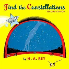 "cover of ""Find the Constellations"" showing a starry sky"