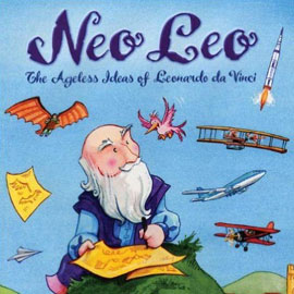 illustrated cover of Neo Leo showing a seated man with planes flying around