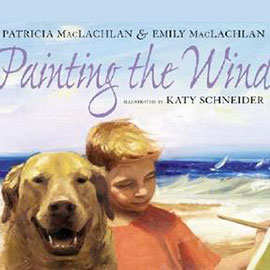 cover of Painting the Wind showing boy with dog at the beach.