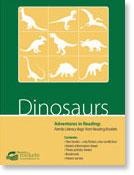Dinosaurs family literacy bag