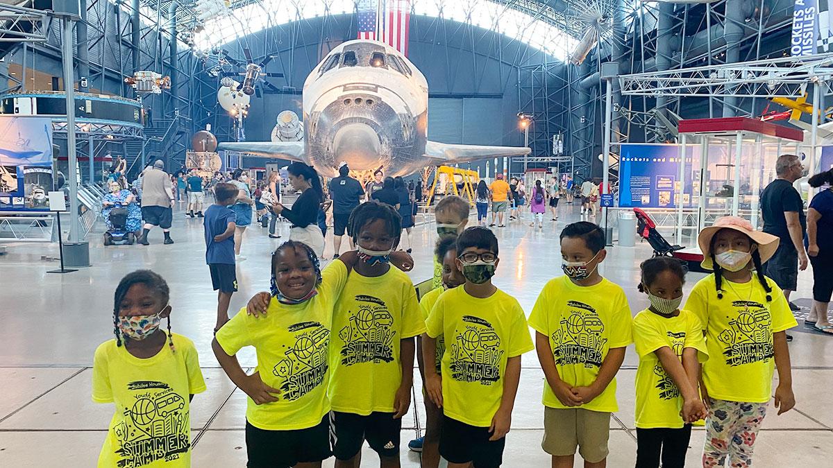 Kids at Washington DC youth summer program building a Mars lander