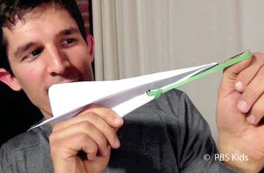 a homemade paper airplane catapult