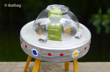 photo of a homemade alien spaceship