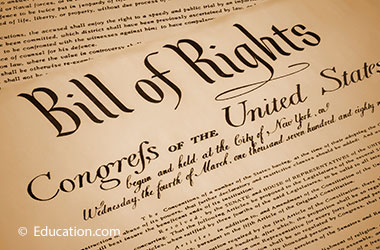 top section of the Bill of Rights