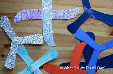 photos of homemade boomerangs