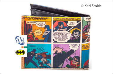 photo of a wallet made using comics