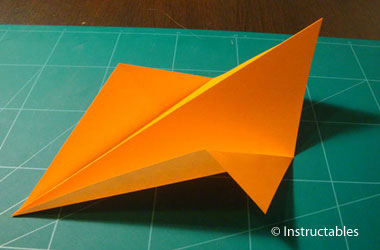 a devil's kite paper airplane