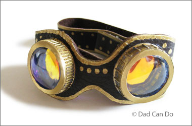 photo of steampunk-style goggles