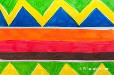 drawing of a kente cloth pattern
