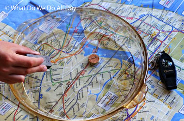 photo of a homemade map compass