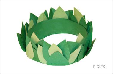 a homemade olive wreath