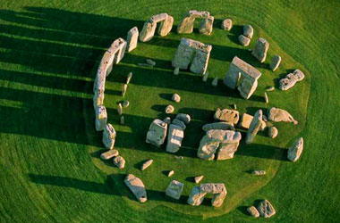 arial photo of Stonhenge