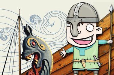 drawing of a viking
