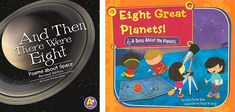 Book covers for And Then There Were Eight and Eight Great Planets