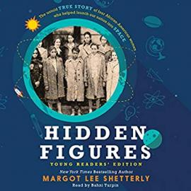 cover of Hidden Figures showing a sepia photo of a group of women