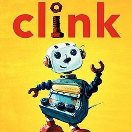 "cover of ""Clink"" showing robot"