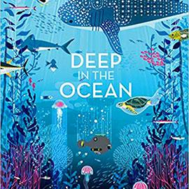 illustrated cover of Deep in the Ocean showing an underwater scene.