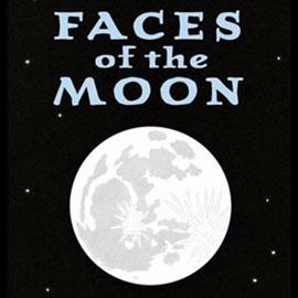"cover of ""Faces of the Moon"" showing the moon"