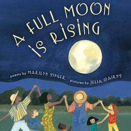 "cover of ""A Full Moon is Rising"" showing people dancing under the moon"