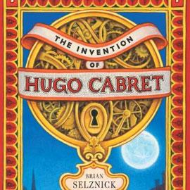 "cover of ""The Invention of Hugo Cabret"" showing an intricate lock"