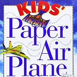 "cover of ""Kids Paper Air Plane"" showing two airplanes flying"