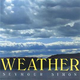 "cover of ""Weather"" showing a cloudy blue sky"