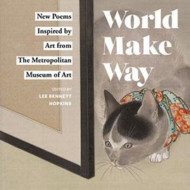 illustrated cover of World Make Way showing cat in bandana sniffing at the corner of a frame