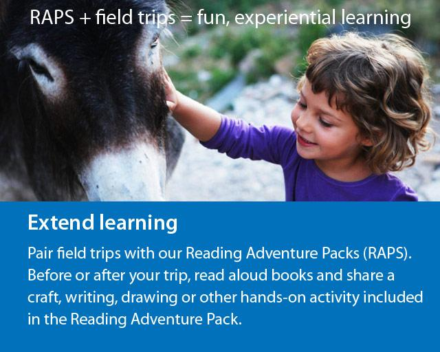 Reading Adventure Packs + field trips = fun, experiential learning