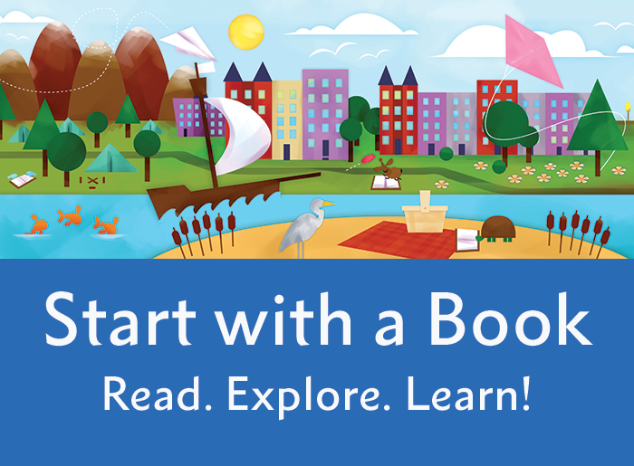Start with a Book Promotional graphic for websites