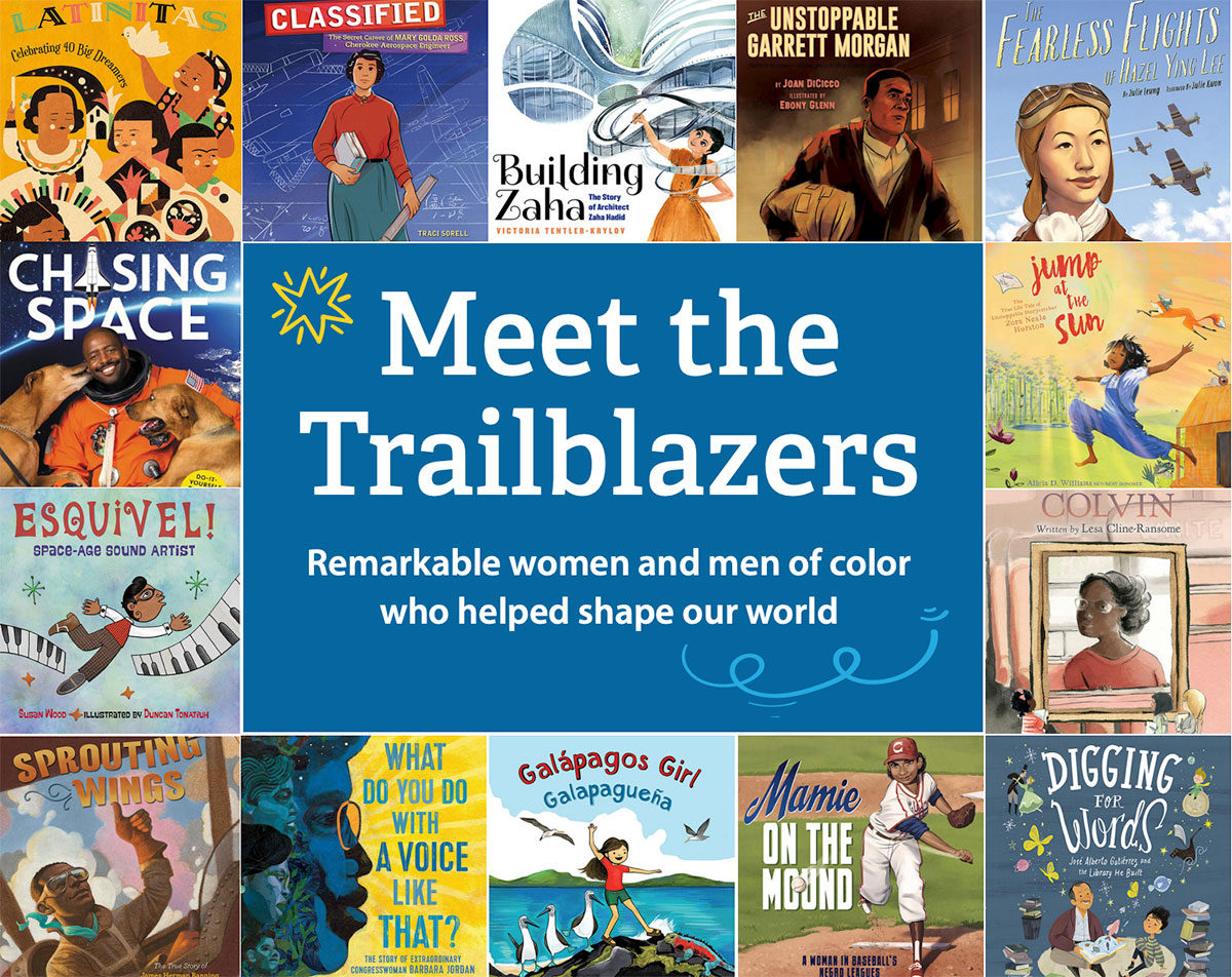 book cover collage of multicultural biographies for children